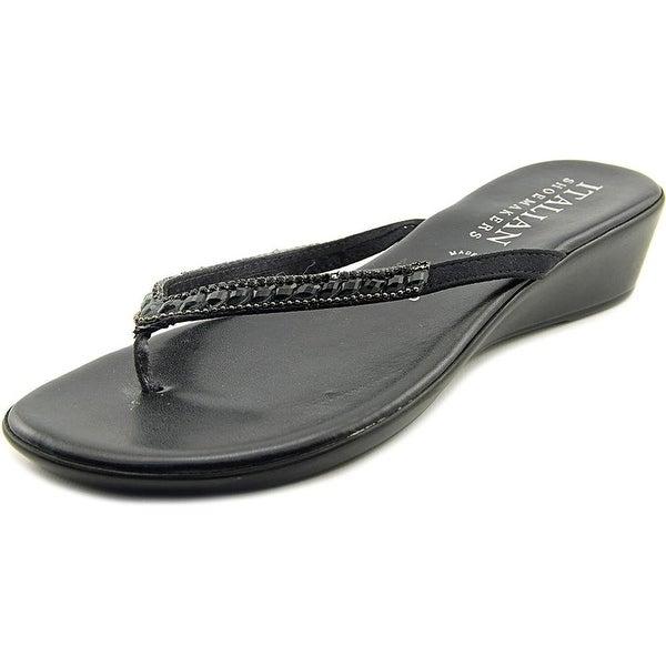 6a841b6d46da Shop Italian Shoe Makers Hartley Women US Black Thong Sandal - Free ...