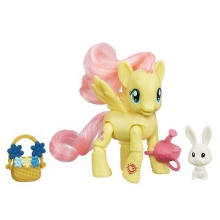My Little Pony Explore Equestria Action Figure: Flower Picking Fluttershy - multi