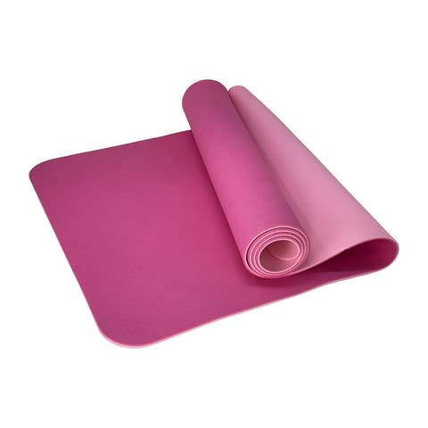 Eco-Friendly Reversible-Color Yoga Mat & Carrying Strap