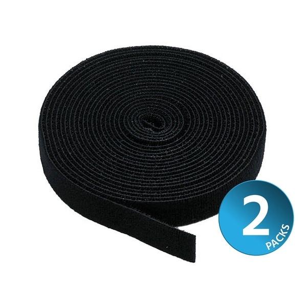Monoprice 2-Pack Hook & Loop Fastening Tape 5 yard/roll, 0.75-inch - Black