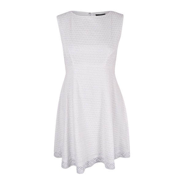 0416433b67515 Shop Tahari ASL Women s Sleeveless Eyelet Fit Flare Dress - White - On Sale  - Free Shipping On Orders Over  45 - Overstock - 16152488