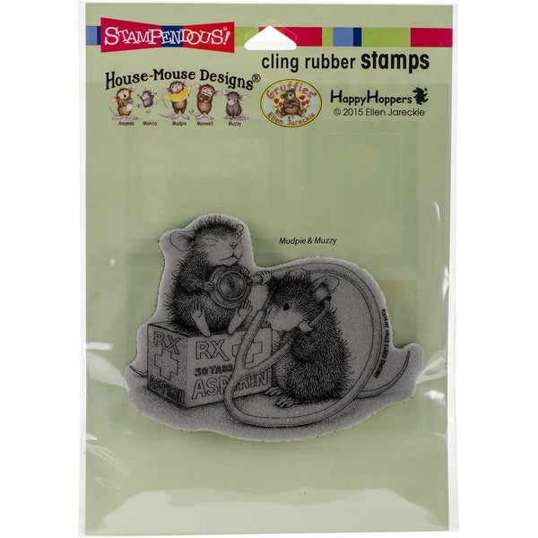 "Stampendous House Mouse Cling Stamp 2.75""X3.75""-Nurse Mouse"