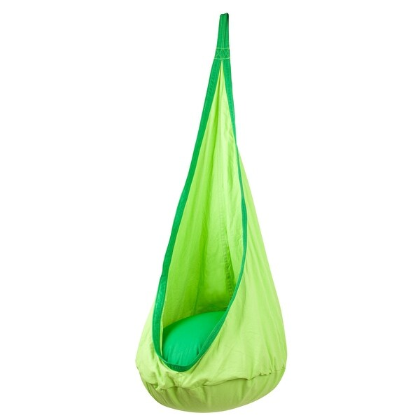 Driftsun Hammock Pod Kids Swing / Outdoor and Indoor Children's Hammock Chair Nook - Hardware Included (Green)