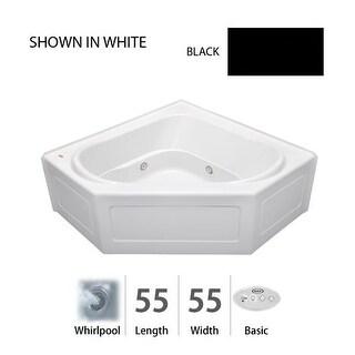 "Jacuzzi CPS5555 WCR 2XX 55"" x 55"" Capella® Three Wall Alcove Corner Comfort Whirlpool Bathtub with 8 Jets, Basic Controls,"