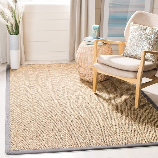 Safavieh Natural Fiber Oceana Casual Border Seagrass Rug. Opens flyout.