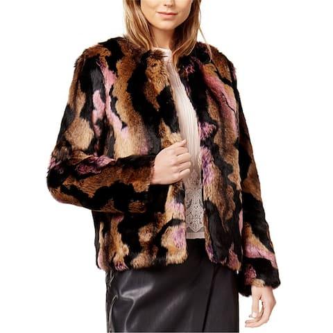 Bar Iii Womens Faux Fur Jacket