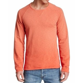 Scotch & Soda NEW Orange Mens Size Small S Dip-Dyed Crewneck Sweater