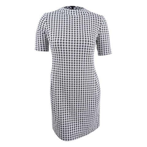 American Living Women's Houndstooth Sheath Dress - Black/White