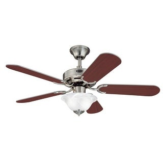 Westinghouse 7877300 42 inch Brushed Nickel Five Blade Ceiling Fan with Light