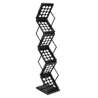 Gymax Folding Pop-up Brochure Rack Magazine Display Holder