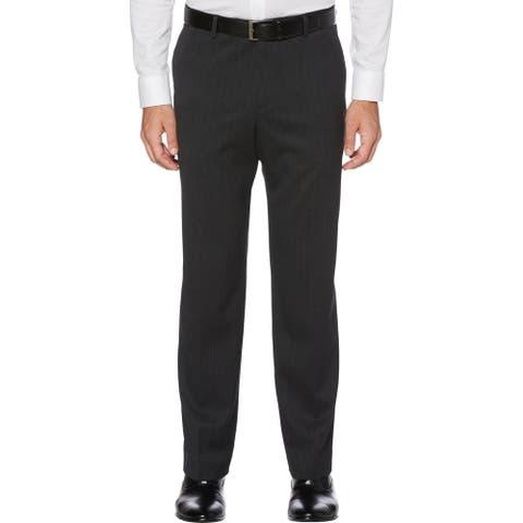 Perry Ellis Portfolio Mens Dress Pants Wool Blend Stretch - Black