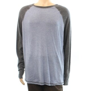 Autumn Cashmere NEW Blue Mens Size XL Crewneck Cashmere Sweater