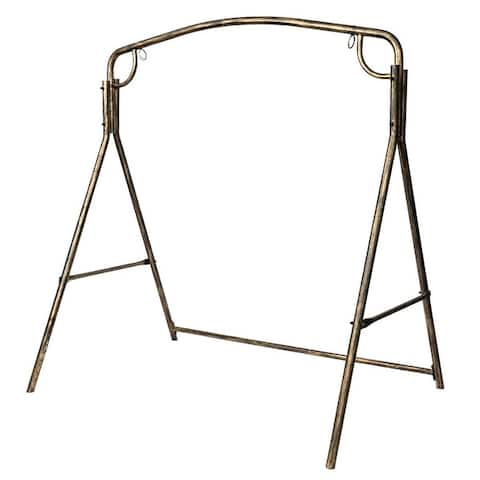 Outdoor Garden Heavy Duty Iron Swing Stand Frame Brush Gold