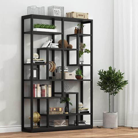 47 Industrial Bookcase, Open Etagere Bookshelf, Display Shelf