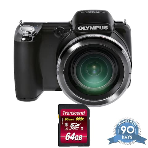 Olympus SP-810UZ Digital Camera (Black) - with Memory Card -