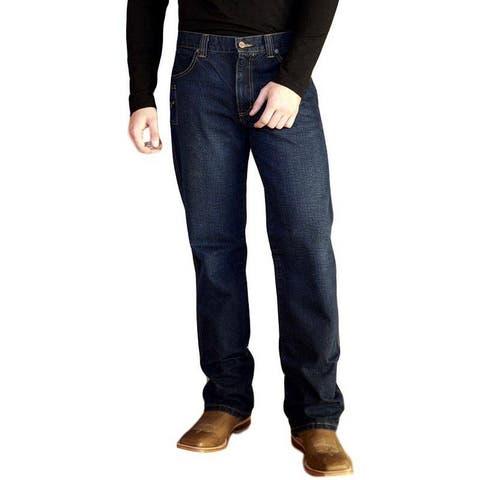 Kimes Ranch Western Jeans Mens Relaxed Mid Dark Indigo