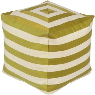 Marvelous 18 Playhouse Lime Green And Beige Striped Square Pouf Ottoman Overstock Com Shopping The Best Deals On Ottomans Forskolin Free Trial Chair Design Images Forskolin Free Trialorg