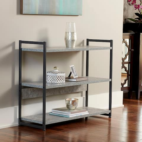 Household Essentials 3-Tier Wide Modular Shelf, Slate Gray