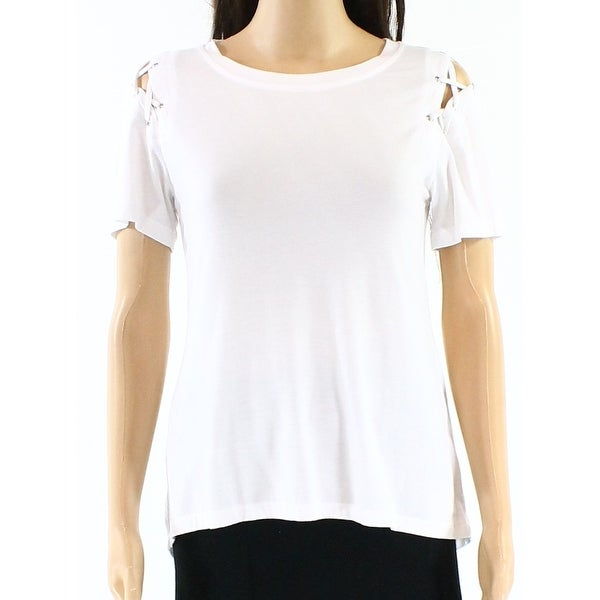 ab7a9062cc44b5 Shop Harlowe & Graham Women's Medium Lace-Up Solid Knit Top - On Sale - Free  Shipping On Orders Over $45 - Overstock - 26904384