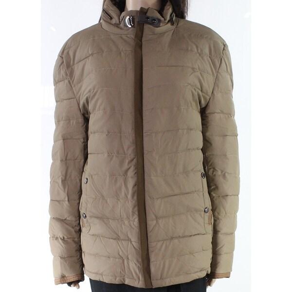 Paergian Brown Womens Size 4X Paisley Lined Full Zipper Puffer Coat