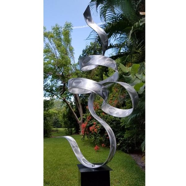 """Statements2000 Metal Sculpture Yard Sculpture Indoor Outdoor Garden Statue by Jon Allen - Perfect Moment - 48"""" x 17"""" x 14"""""""