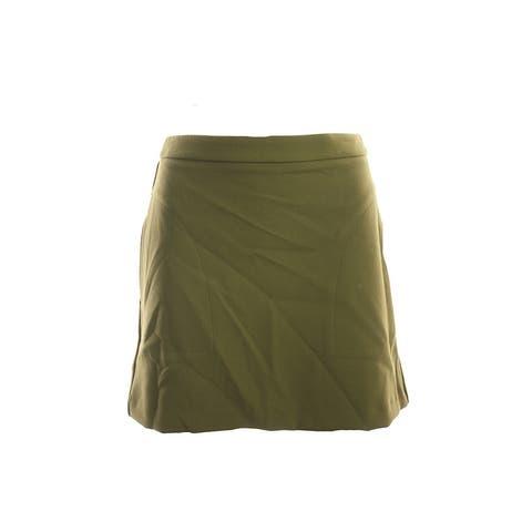 Bar Iii Military Olive Mod Mini Skirt S