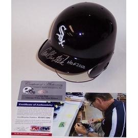 Carlton Fisk Autographed Hand Signed Chicago White Sox Mini Helmet  PSADNA