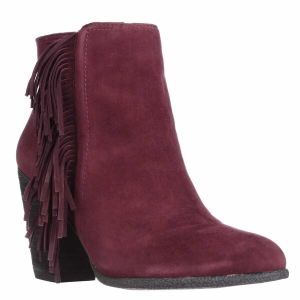 Vince Camuto Hayzee Fringe Ankle Boots, Deep Sugar Plum - 8.5 w us