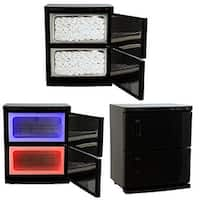 LCL Beauty Black High Capacity Hot Towel Cabinet and Ultraviolet Sterilizer with 48 Towels