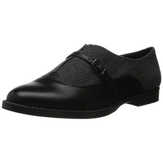 Bella Vita Womens Reese Flannel Leather Trim Oxfords