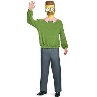 Deluxe Ed Flanders Costume, Ed Flanders Deluxe Adult