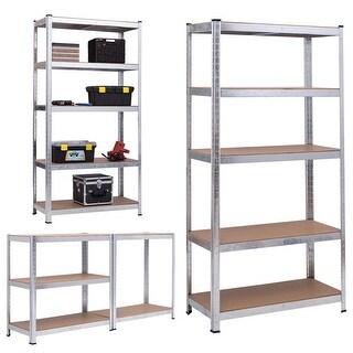 Gymax 71'' Heavy Duty Storage Shelf Steel Metal Garage Rack 5 Level Adjustable Shelves - as pic