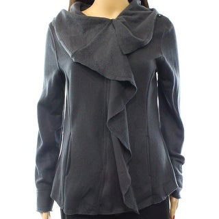 Blanc Noir NEW Solid Gray Women's Small S Full Zip Sweater Jacket