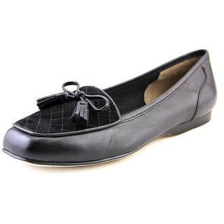 Array Lizzy Women N/S Round Toe Leather Black Loafer