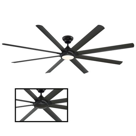 Hydra 96 Inch Eight Blade Indoor / Outdoor Smart Ceiling Fan with Six Speed DC Motor and LED Light.