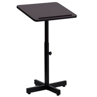 Delacora FF-XU-LECTERN-ADJ-GG 20 Inch Wide Wood Top Steel Adjustable Lectern
