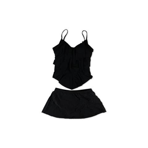 Magicsuit Womens Solid Ruched 2 Piece Tankini