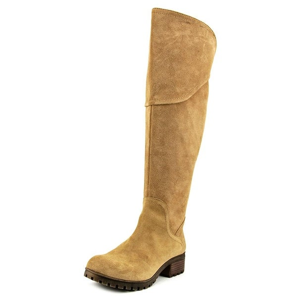 Lucky Brand Harleen Round Toe Suede Over the Knee Boot