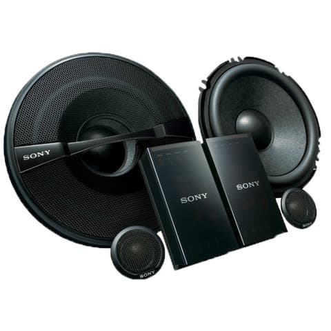 "Sony XS-GS1621C GS-Series 6-1/2"" 2-Way Component Speakers - Pair - Black"