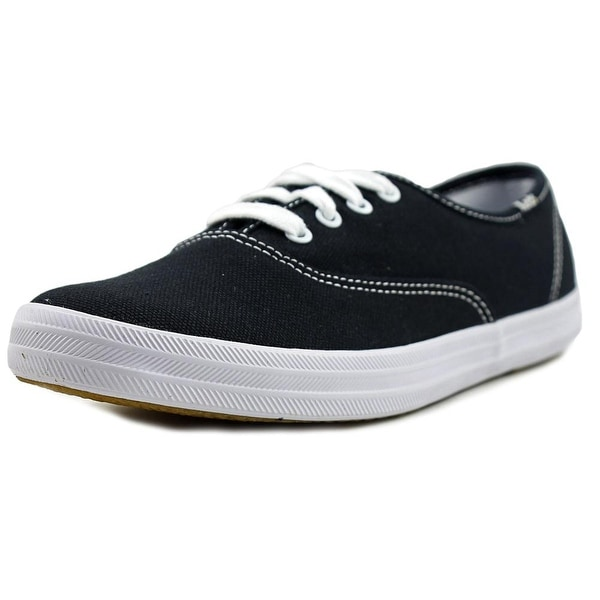4dd164b70ce Shop Keds Champion Women Round Toe Canvas Black Sneakers - Free ...