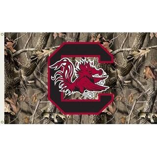 University of South Carolina Gamecocks Camo Flag
