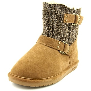Bearpaw Nova   Round Toe Leather  Winter Boot