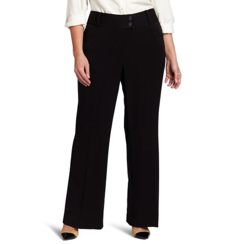 Rafaella Women's Dress Pants Black Size 20W Plus Bootcut Work Stretch
