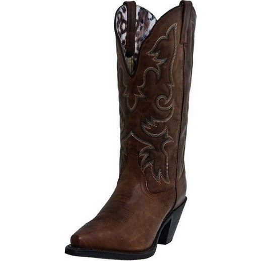 Laredo Fashion Boots Womens Access Stitched Cowboy Vintage Tan
