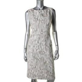 Lafayette 148 New York Womens Sleeveless Knee-Length Wear to Work Dress - 8
