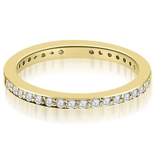 1.15 cttw. 14K Yellow Gold Round Diamond Eternity Ring