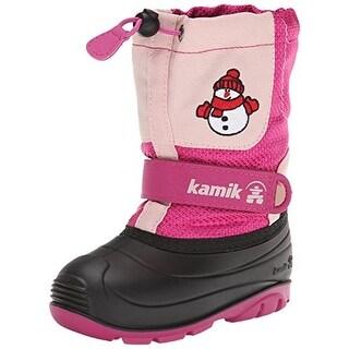 Kamik Bonhomme Colorblock Toddler Girls Snow Boots