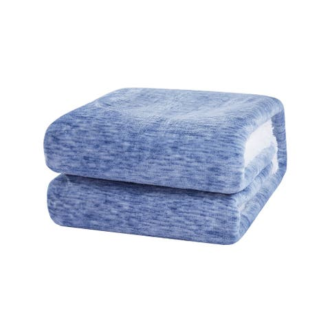 "Richie House Soft, Comfortable and Warm Printed Flannel Throw Blanket - Sapphire - 50""*60"""