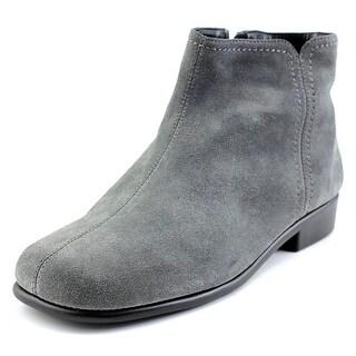 Aerosoles Duble Trouble Women  Square Toe Suede Gray Ankle Boot