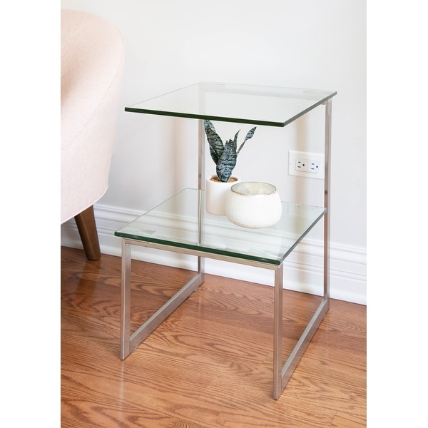 Stainless Steel 6G End Table. Opens flyout.